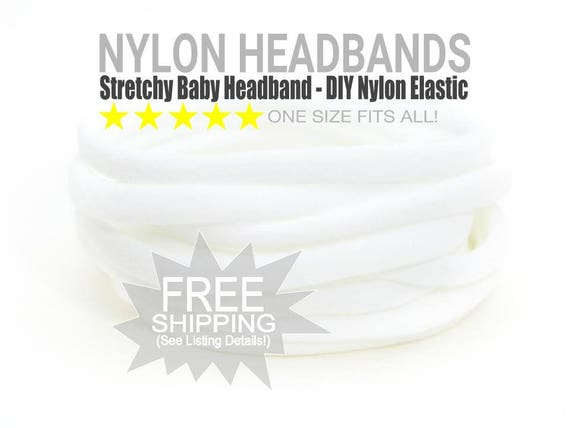 Nylon Headbands / Wholesale Spandex Headband / Skinny Very Stretchy One Size Fits most Nylon