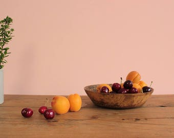 Vintage Small Rustic Walnut Wooden Bowl