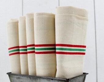 Farmhouse Kitchen Towels, Farmhouse Linens, French Linen Kitchen Towels, Linen Dish Towels, Vintage Tea Towels, Farmhouse Towels E450
