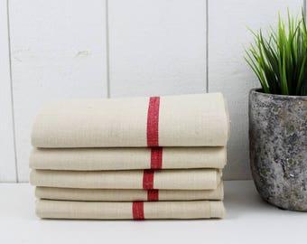 Farmhouse Tea Towels, Linen Napkins French Tea Towels, Farmhouse Napkins, Farmhouse Kitchen Towels, Linen Dinner Napkins, French Linen -E453