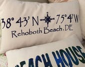 "Rehoboth Beach, DE  12x20"" easy care throw pillow"