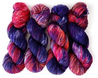 Sock Yarn Superwash Merino/Nylon 85/15 4ply Handdyed Yarn: CASSIOPEIA