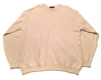 Vintage Pendleton Crew Knit Sweater XL Creme Portland Cotton