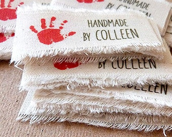 30 Custom Clothing Labels · Canvas Tags · Canvas Labels Fabric Labels · Cotton Canvas Label · Rustic Label · Frayed Tag Label
