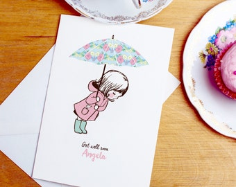 Personalised Get Well Soon Card / Under the Weather Card