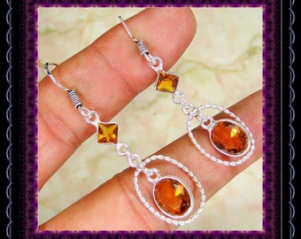 Quartz Citrine Earrings
