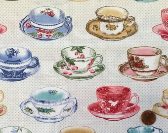 Half Yard - Penelope by Holly Holderman for Lakehouse - Teacups - LH11069
