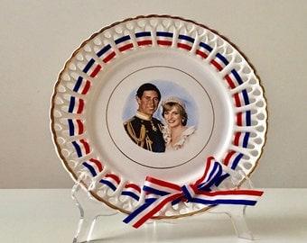 Charles and Diana Plate, Collector Plates, Souvenir Plate, Princess Diana Plate, Royal Wedding Souvenir, Charles and Diana Memorabilia