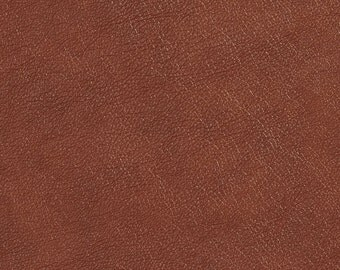 Pecan Brown Upholstery Grade Recycled Leather (Bonded Leather) By The Yard | Pattern # G524