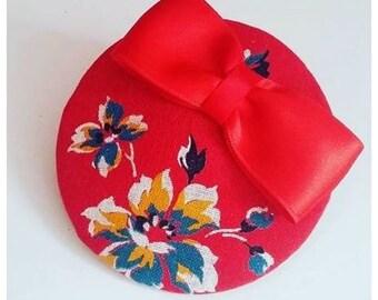 Vermilion Headpiece with floral design!