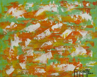 ABSTRACT 20417 - Original Acrylic Painting Framed 20x16 No. 744