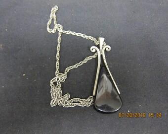 Avon Chain and Black/Silver Pendant
