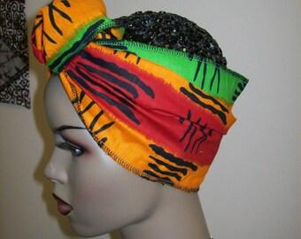 Mini Head Wrap African Scarf African head wrap/Rasta Head Wraps/ African Head Band