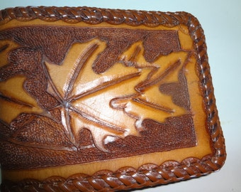 Mens handmade leather wallet