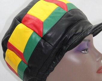 Windows Leather Rasta Cap
