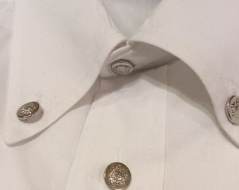 Authentic vintage men's Versace white formal shirt