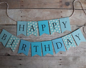 CUSTOM COLORS: cake topper banner with custom letter stamping for birthday parties, showers, and graduation parties