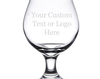 Personalized Laser Engraved 16 oz Belgian Tulip Shaped Glass for Beer - EP - CUSTOM - TULIP