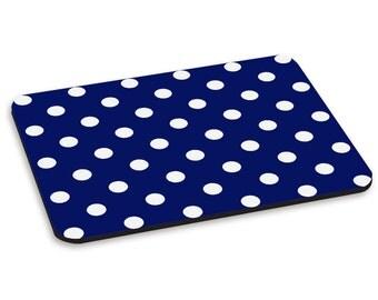 Polka Dot Navy Dark Blue Pattern PC Computer Mouse Mat Pad