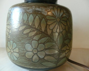 Ceramic lamp. Vintage 60s. table lamp