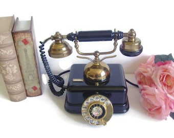 Antique Style Rotary Telephone, Working Extension Phone, French / Victorian Style, Corded, Landline