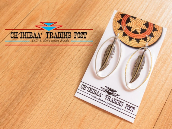 Antique Native FeatherHoop Earrings