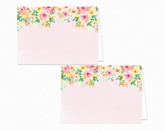 Baby Shower Food Tent Labels - Floral Baby Shower - Printable Food Labels - Floral Place Cards - Food Labels - Floral - Peaches and Cream