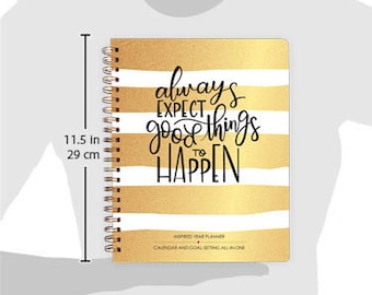2017 Inspired Year Planner - Monthly only - SPIRAL BOUND, Academic Year Planner, Monthly Planner, Calendar