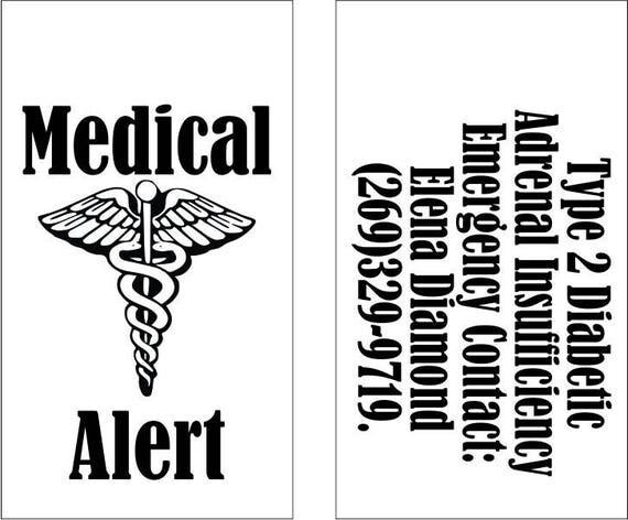 Medical Alert Necklace - Custom Medical Alert Dog Tag Necklace with 24