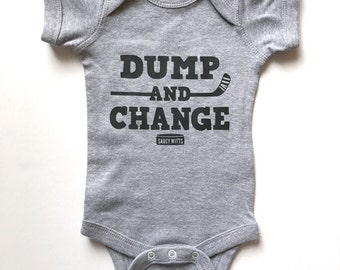 Hockey Baby Gift Dump and Change Hockey Infant Bodysuit One Piece
