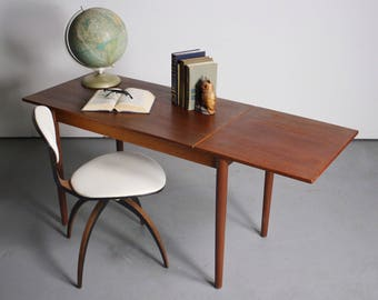 Sleek and Simple Arne Vodder Danish Modern Writing Desk