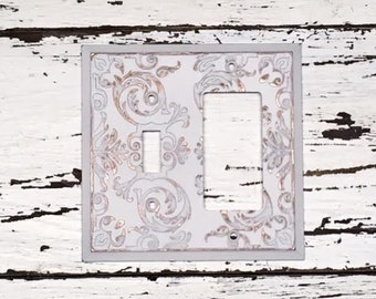 Light Switch Plate/GFI and Toggle/Switchplate/Light Plate/Single Rocker Light Switch/Light Switch Cover/Shabby Chic/Decorative Cover/Vintage