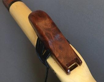 Native American Flute, key of  F# made of Aspen