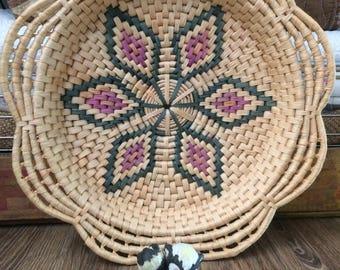 Woven Basket Wall Decor woven bowl | etsy