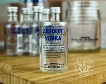 Upcycled Absolut Vodka Shot Glass