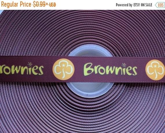 "SUPER SALE BROWNIES Organization Inspired 7/8"" 22mm Grosgrain Hair Bow Craft Ribbon 783181"