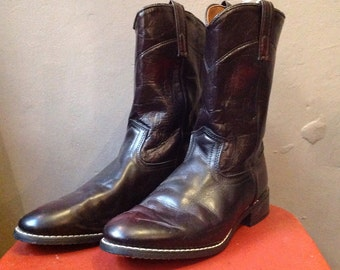 Vintage oxblood leather pecos Western cowboy boots 8.5 rockabilly made in USA