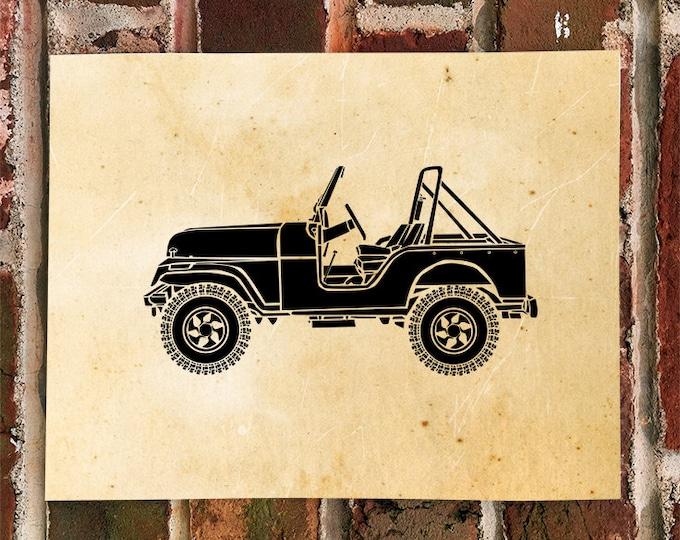KillerBeeMoto: Limited Print Vintage American SUV Automotive Print Print 1 of 50