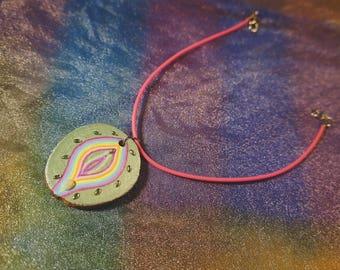 Yoni Choker / Original hand-painted art necklace