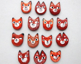 Fox Pins / Brooches / Badges