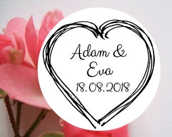 "Wedding stamp ""Heart"", personalized wedding stamp, custom wedding stamp, wedding, save the date stamp, wedding DIY, stamp, 809"