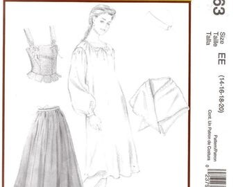 McCall's 4863 Misses' Colonial Costume Pattern, 14-20