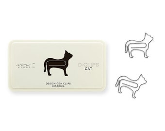 Cat Paper Clips • Midori Animal D-Clips Japanese Stationery