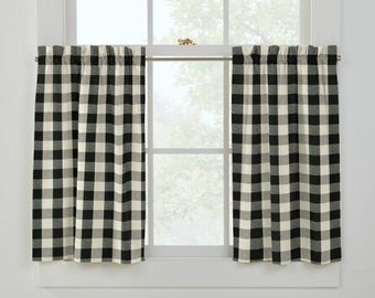 1 Unlined Rod Pocket or Flat Top Cafe Curtain......Made To Order.....Using YOUR Fabric.....French Country