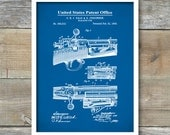 Patent Poster, Repeating Rifle, Bolt Action Print, Krag and Jorgensen, Gun Decor, Gun Enthusiast, P438
