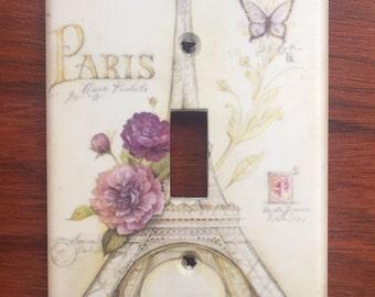 Eiffel Tower Paris France decor Light switch cover Chic