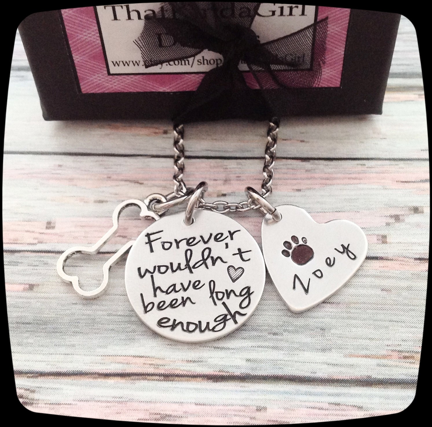 Pet Memorial Necklace Loss of family dog Dog Pet loss