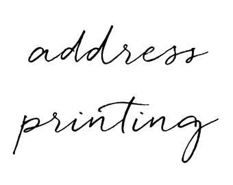 Guest and/or Return Address Printing for your Shower Invitations