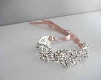 Rhinestones and Pink Ribbon powder bracelet