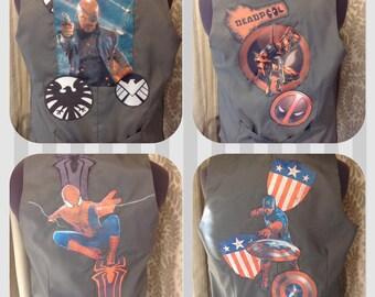 Finished order 8 custom printed and sewn waistcoats